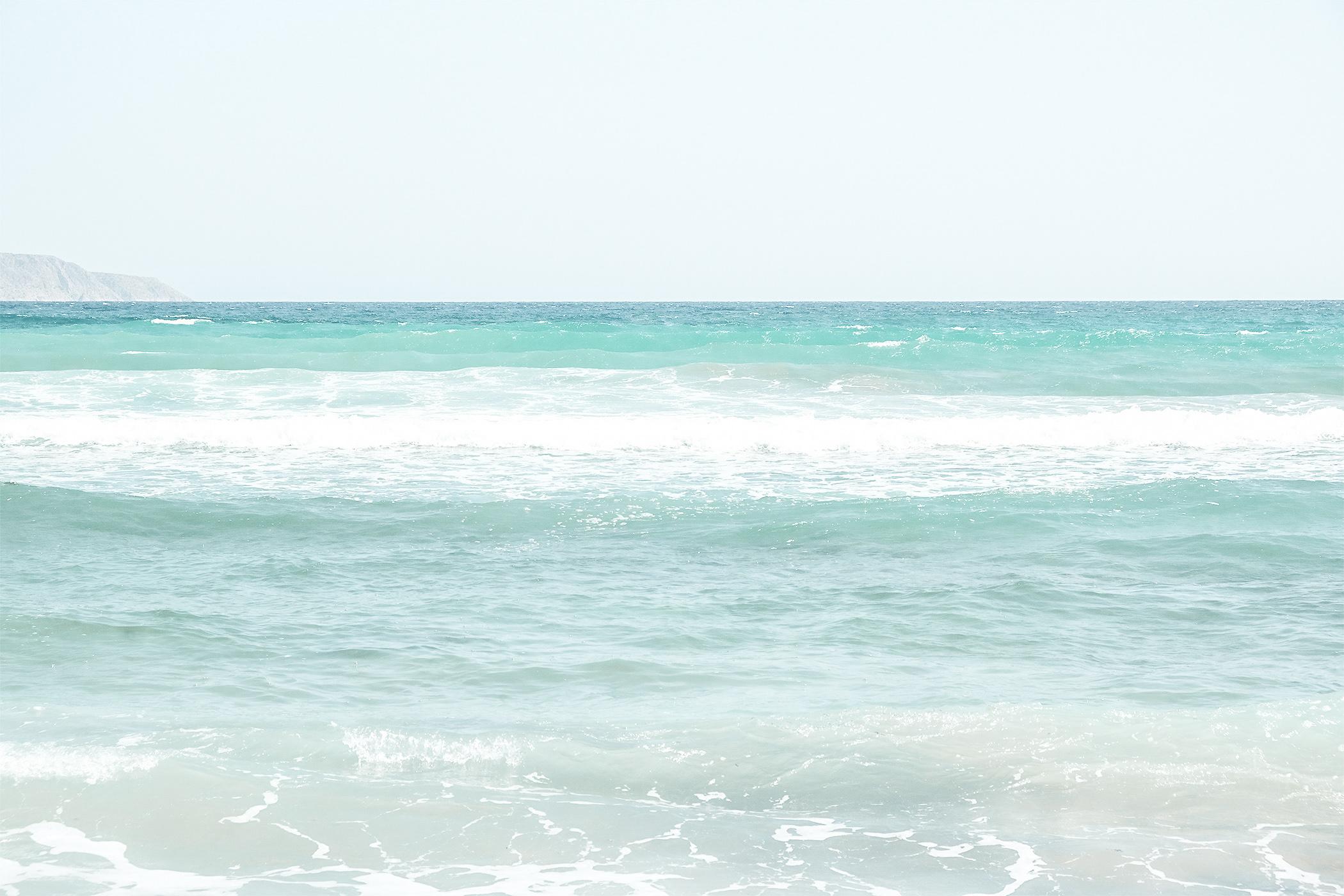 Girl praticing paddle, sea crete tsivaras. Travel blog article