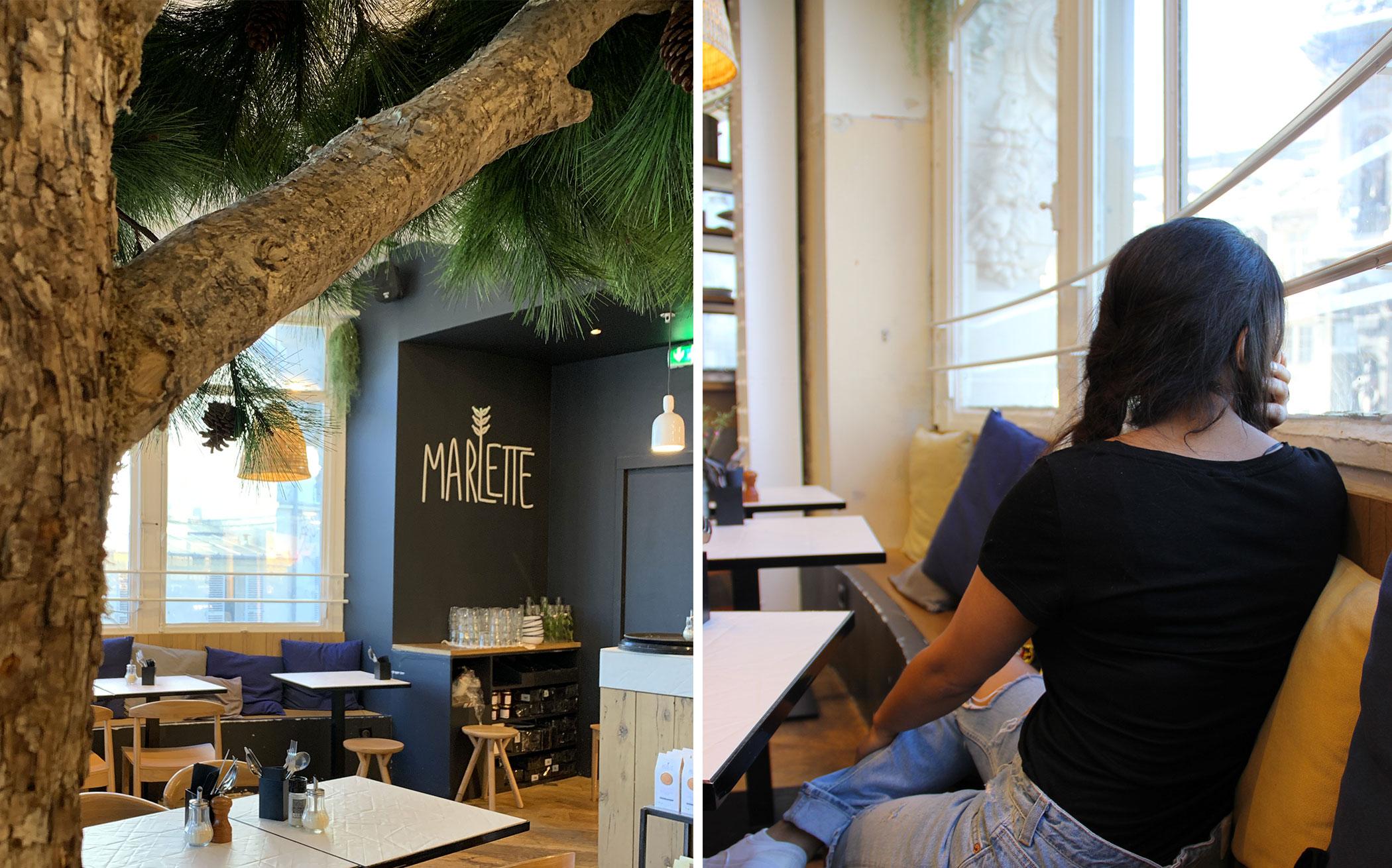Launch at Marlette Paris, Saint- Paul. Where to find healthy food in Paris.
